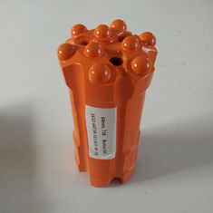 China Mining Top Hammer Drill Bits , Orange Retrac Button Bit Forging Steel supplier